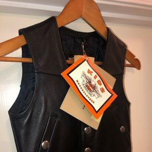 Children XS black Harley Davidson vest